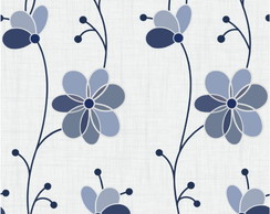 Papel De Parede Floral Flores Do Interior Mod.795