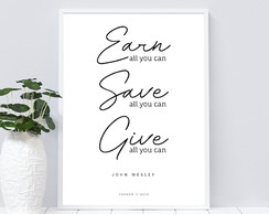 Earn, Save, Give
