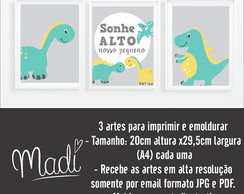 kit arte digital dino verde