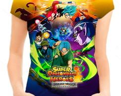 83d23a5b50 ... Camiseta Babylook Feminina - Super Dragon Ball Heroes