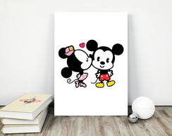 Placa decorativa 15x20cm Mickey & Minnie