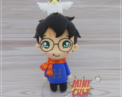 Toy Chibi Harry e Edwiges - Harry Potter