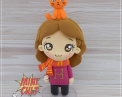Toy Chibi Hermione e Bichento - Harry Potter