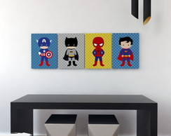 PLACAS DECORATIVAS SUPER HEROIS BABY | PL043SPH