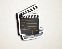 662f85b776da2 ... Aplique placa quadro - MDF e impressão– cinema claquete