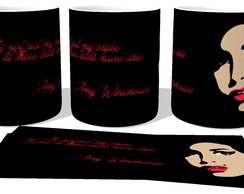 Caneca Porcelana luxo Copo Xícara Amy Winehouse It's not jus