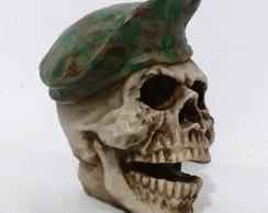 Crânio Boina verde camuflagem 124d5c2e33a