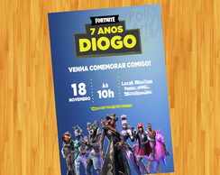 ARTE CONVITE FORTNITE DIGITAL VIRTUAL