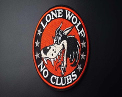 Patchs Lone Wolf No Clubs/adesivos Termo Colantes