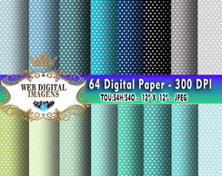 Papel Digital Tiny Polka Dot- 46 Papeis - CD50