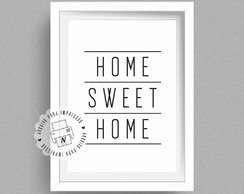 Poster Digital A4 - Home sweet home