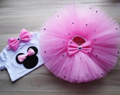 Kit tutu Minnie Rosa