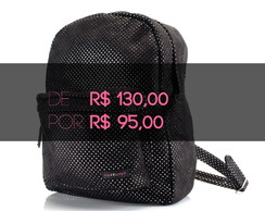 BLACK FRIDAY - Mochila Polka Dots Preto / prata
