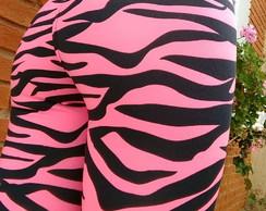 ... Calça Legging Zebra Rosa 2b640bf928675