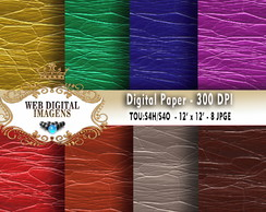 Papel Digital Rough Shiny Leathers- 08 Papeis - CD69