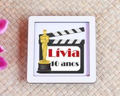 ... Placa quadrinho com impressão com texto - cinema Oscar aebf9088a5ca6