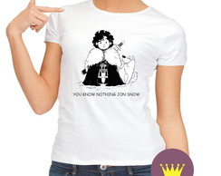 Camiseta Babylook Jon Snow You Know Nothing