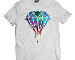 Camiseta Diamante Pingando Camisa Masculina Diamond Hip-hop