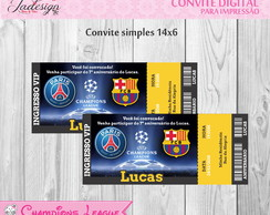 Convite Digital - Champions League