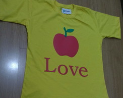 Camiseta Maçã - Love