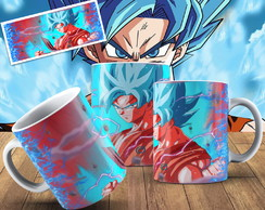 Caneca Dragon Ball Goku Super Sayajin Blue Caneca Anime Geek