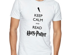 Camiseta Camisa Harry Potter Keep Calm and Read Harry