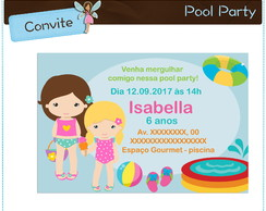 Convite Pool Party | digital
