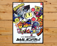 Quadro Decorativo Super Bomberman Super Nintendo 30x42cm A3