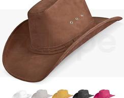 ... Chapeu Couro Masculino Country Texano Americano Rodeio Luxo f09e7aa5f31