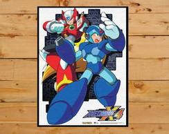 Quadro Decorativo Mega Man X4 Playstation 1 Ps One 30x42cm