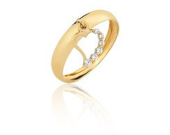 c77a34d10df8d SUBLIME JOIAS. R  289,00  Anel Pingente Coração Pedras Ouro 10k Puro