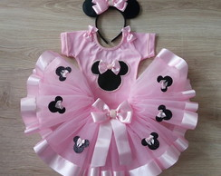 kit tutu minnie rosa 1 a 6 anos