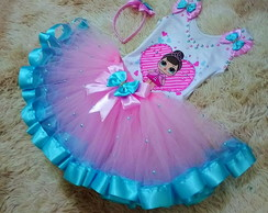 Fantasia tutu Lol super luxo