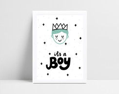 Quadro infantil escandinavo it's a boy