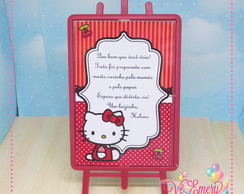 Plaquinha Hello Kitty 01