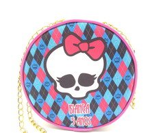 Bolsinha redonda com correntinha monster high