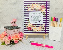 Planner Life Roxo Floral