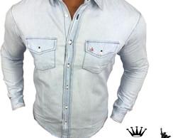 Camisa Calvin Klein Azul   Elo7 554c32abb4