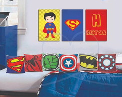 Placa Decorativa Heróis SuperMan Baby
