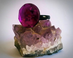 Anel Purple Stone
