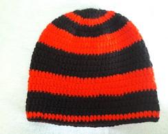 Touca de Croche com Tapa Orelhas Unissex  a607347155a