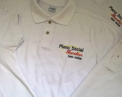 ... Camisa Polo Piquet Personalizada Bordada  Uniforme c  Logo c56e5c2750256
