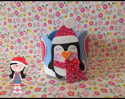 Mini porta panetone pinguim