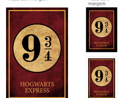 Placa Decorativa Harry Potter Plataforma 9 3/4 GF079 20x30