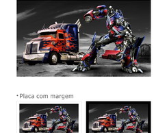 Placa sem moldura Transformers Optimus Prime GF084