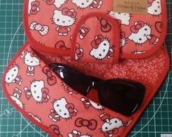 0878ac393d63c ... Porta Óculos de grau sol em Tecido Hello Kitty