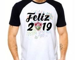 ... Camiseta Feliz 2019 Réveillon Time de Futebol Fluminense a7c002a89e17a