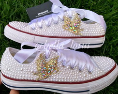 All Star com Pérolas e Strass  79710f03266ba