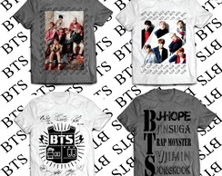 KIT com 4 Camiseta BTS #3