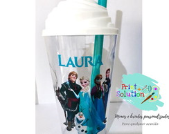 COPO FROZEN C/ TAMPA CHANTILLY 500 ML PERSONALIZADO